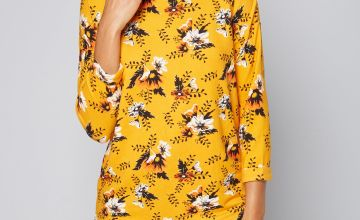 Brushed Floral Tunic Top