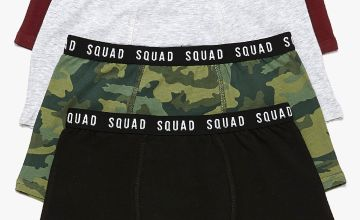 Boys Pack of 4 Squad Camo Trunks