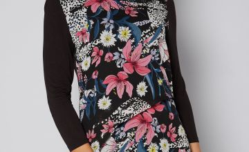 Layered Floral Printed Top