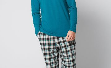 Long Sleeve Top and Flannel Cuff Bottom Pyjama Set
