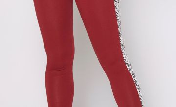 Beck and Hersey Snake Print Panel Leggings