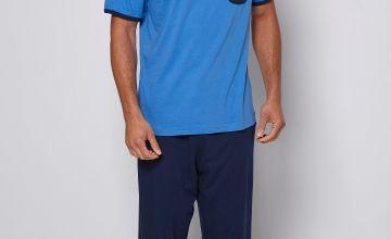 Jersey T-Shirt and Trouser Pyjama Set