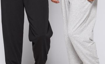 Basic 2 Pack Grey/Black Cuff Trousers