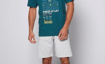 Pacman T-Shirt and Short Pyjama Set