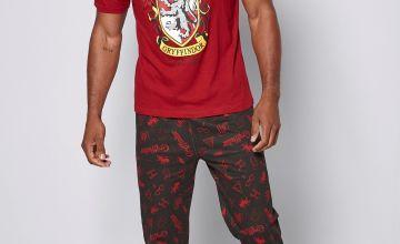 Harry Potter Cuffed Pants and T-shirt Pyjama Set