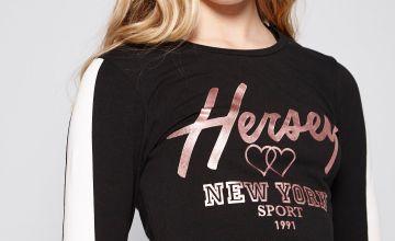 Girls Beck and Hersey Zana Long Sleeved Crop Top