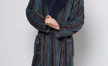 Stripe Shawl Dressing Gown
