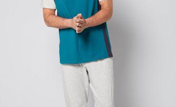 Fashion Contrast Jersey Loungewear