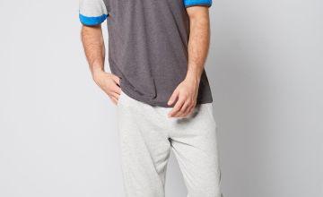 Fashion Contrast Sleeve Pyjama Set