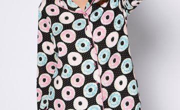 Donut Boxy Shirt Short Pyjamas
