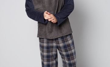 Fleece Raglan Top and Fleece Trouser Pyjamas