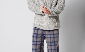 Cowl Neck Ribbon Tie Pyjama Gift Set