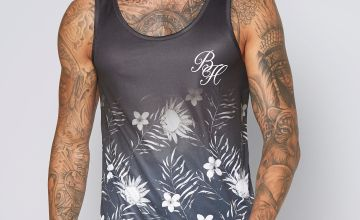 Beck and Hersey Floral Print Vest