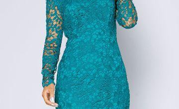 Emerald Crochet Dress