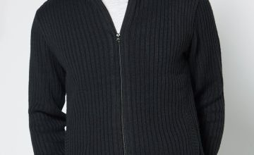 Borg Lined Hooded Zip Through Jumper