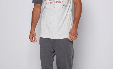 Keycoast T-Shirt and Jersey Trouser Pyjama Set