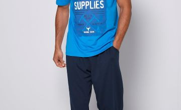 Surplus Supplies Graphic T-Shirt and Jersey Trouser Pyjama Set