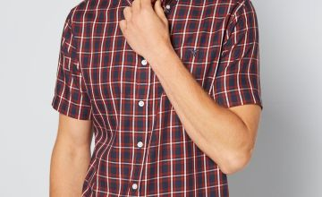Short Sleeve Check Twill Shirt