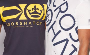 Crosshatch Pack of 2 Brand Carrier T-Shirts