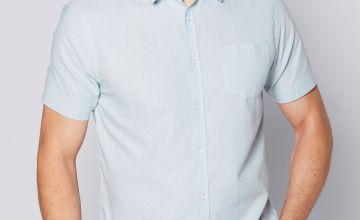Short Sleeve Linen Mix Shirt