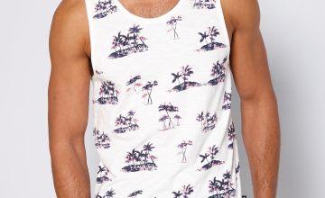 Palm Tree Printed Vest