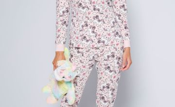Unicorn Soft Touch Pyjamas and Hot Water Bottle