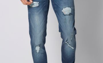 Ringspun Skinny Ripped Jeans