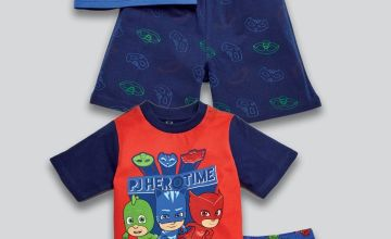 Young Boys Pack of 2 PJ Masks Shortie Sets