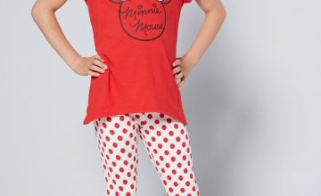Older Girls Minnie Mouse Spotty Pyjamas