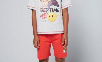 Older Boys Emoji Game Time Shortie Pyjamas