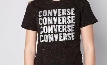 Girls Converse Bevelled T-Shirt