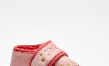 Younger Girls Unicorn Sparkle Slippers