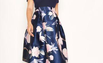 AX Paris Bardot Floral Skater Dress