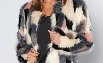 Multi Faux Fur Coat
