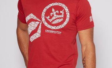 Crosshatch Logo Red T-Shirt