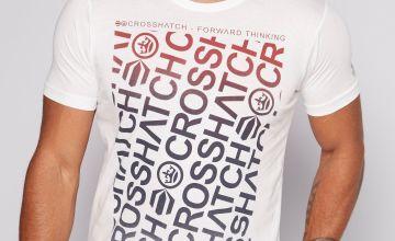 Crosshatch Logo White T-Shirt