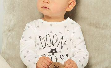 Baby Unisex Born in 2019 Sleepsuit with Comforter