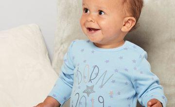 Baby Boys Born in 2019 Sleepsuit with Comforter