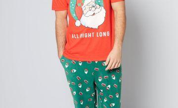 Christmas Santa Delivers T-Shirt and Fleece Pant Pyjama Set
