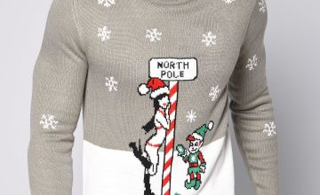 North Pole Christmas Knitted Jumper