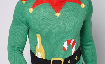 Elf Body Christmas Knitted Jumper