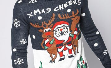 Xmas Cheers Christmas Knitted Jumper