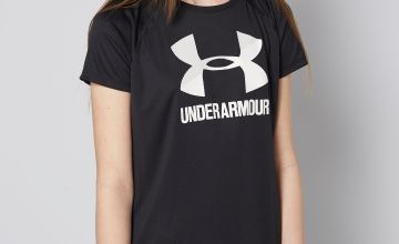 Girls Under Armour Big Logo T-Shirt