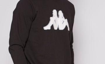 Kappa Tarvit Logo Black Sweatshirt