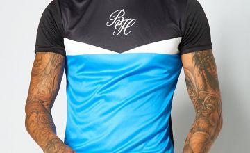 Beck and Hersey Blue Colour Block T-Shirt