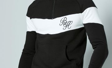 Beck and Hersey BlackZip Through Sweat Shirt