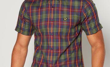Voi Green Check Short Sleeve Shirt