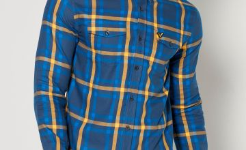 Voi Blue Check Long Sleeve Shirt
