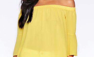 Quiz Yellow Bardot Top