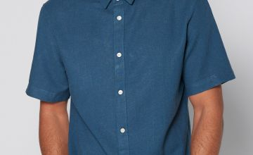 Only and Sons Blue Short Sleeve Oxford Shirt